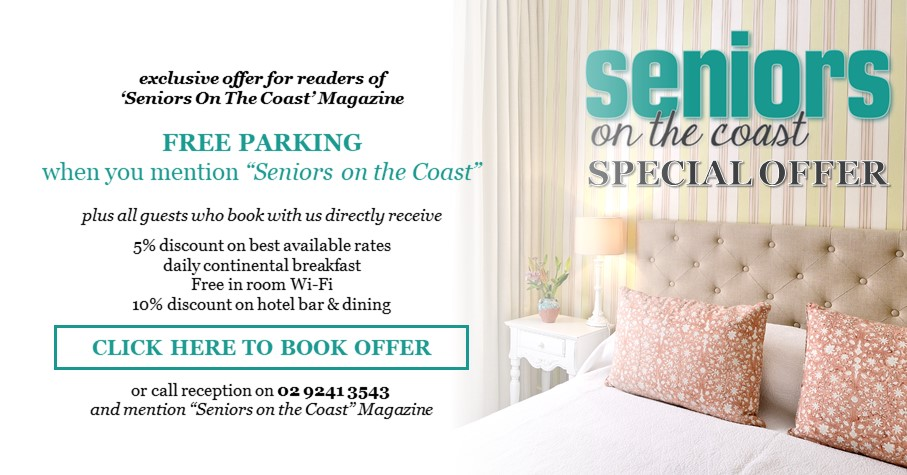 Russell Hotel Seniors on the Coast Magazine Special Offer